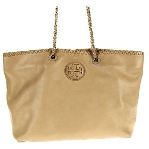 Tory Burch Small Marion Tote Beige